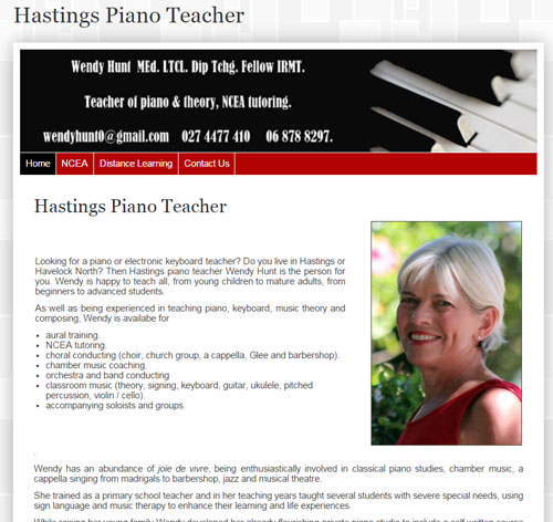 Hastings Piano Teacher